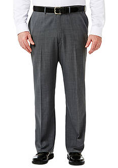Haggar Big and Tall Travel Performance Classic Fit Stria Gabardine Suit Pants