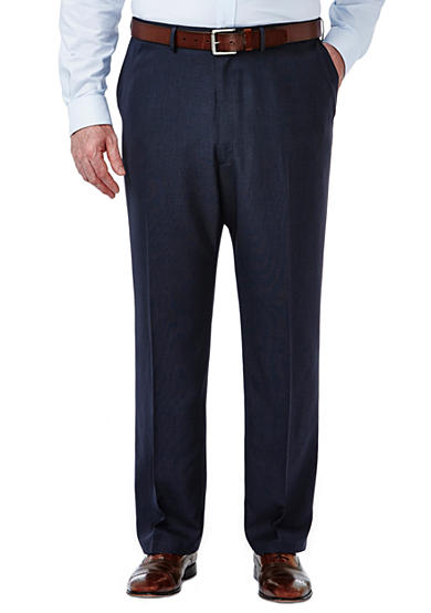 Haggar® Big and Tall Travel Performance Classic Fit Tic Weave Suit Pants