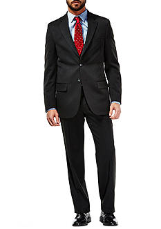 Haggar Travel Performance Heather Pinstripe Tailored Fit Suit Coat