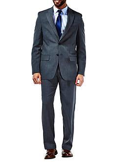 Haggar Performance Tailored Fit Stria Gabardine Suit Coat