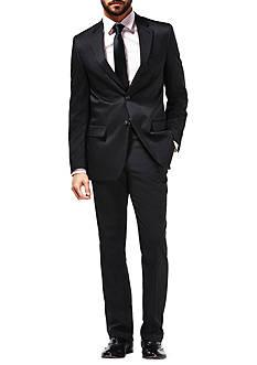 Haggar Travel Performance Micro Tonal Stripe Tailored Fit Suit Coat