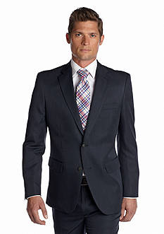 Haggar Tailored Fit Wrinkle Free Stria Stripe Performance Suit Separate Coat