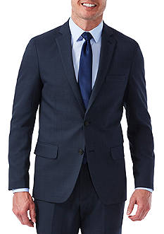 Haggar EXS Stretch Performance Slim Fit Melange Gabardine Suit Coat