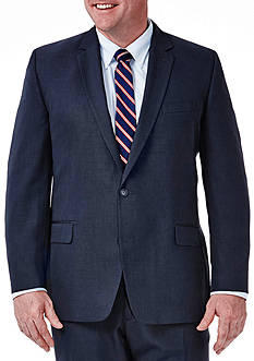 Haggar Big and Tall Travel Performance Classic Fit Tic Weave Suit Coat