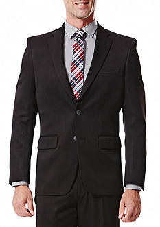 Haggar Big and Tall Travel Performance Classic Fit Solid Gabardine Suit Coat