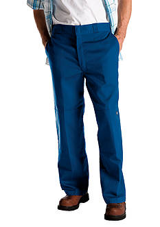Dickies®  Loose Fit Double Knee Flat Front Non-Iron Pants
