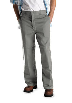 Dickies Loose Fit Double Knee Flat Front Non-Iron Pants