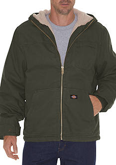 Dickies Big & Tall Sanded Duck Sherpa Lined Hooded Jacket