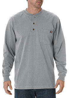 Dickies Long Sleeve Heavyweight Henley