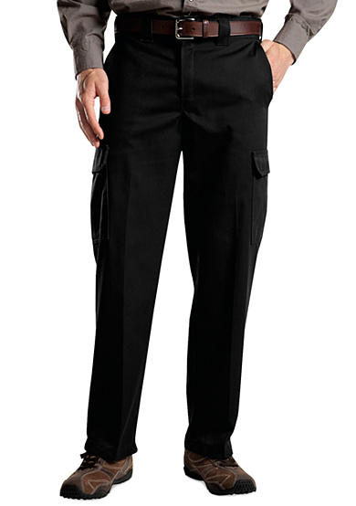 Dickies® Classic Fit Flat Front Wrinkle Resistant Pants