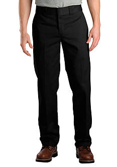 Dickies Slim Fit Flat Front Wrinkle Resistant Pants