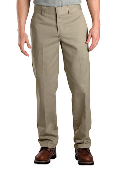 Dickies® Slim Fit Work Flat Front Wrinkle Resistant Pants