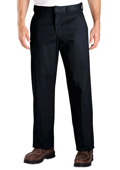 Dickies® Relaxed-Fit Work Flat-Front Wrinkle-Resistant Pants