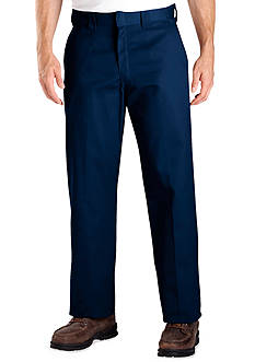 Dickies Classic Fit Work Flat Front Wrinkle Resistant Pants
