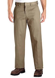 Dickies Classic Fit Work Flat Front Wrinkle-Free Pants