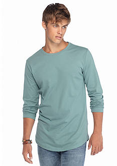 Red Camel® Long Sleeve Elongated Crew Neckline Shirt