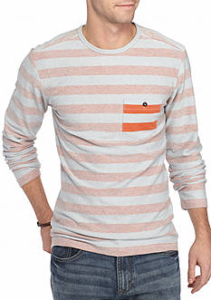 Red Camel Long Sleeve Reverse Terry Crew Neck Shirt