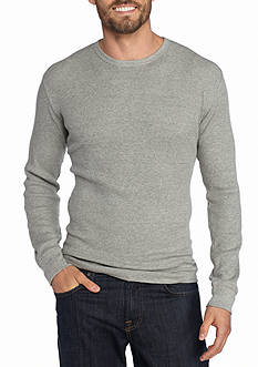 Red Camel Long Sleeve Solid Thermal Crew Neck Shirt