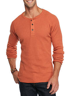 Red Camel Long Sleeve Thermal Henley Shirt