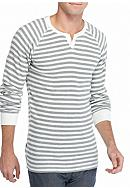 Red Camel® Long Sleeve Striped Thermal Split