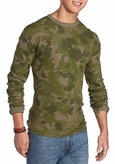 Red Camel Camo Thermal Crew Neck Shirt