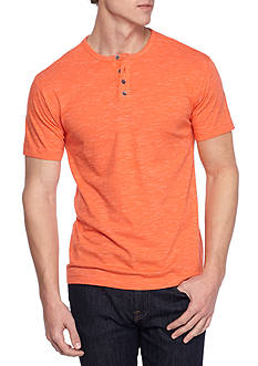Red Camel Short Sleeve Injected Henley Shirt