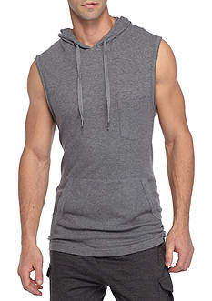 Red Camel Sleeveless Solid Waffle Hoodie