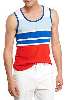 Red Camel Sleeveless Red White And Blue Tank
