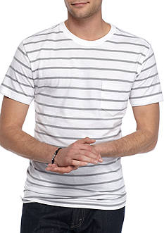 Red Camel Short Sleeve Classic Stripe Crew Neck Tee