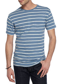 Red Camel® Short Sleeve Classic Stripe Crew Neck Tee