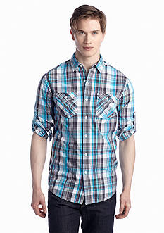 Red Camel® Long Sleeve 2-Pocket Plaid Woven Shirt
