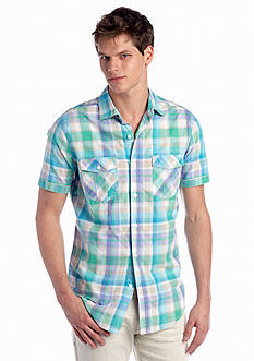 Red Camel® Short Sleeve Plaid Woven Shirt