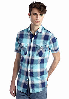 Red Camel® Short Sleeve Ombre Plaid Shirt