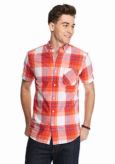 Red Camel Short Sleeve Traditional Plaid Shirt