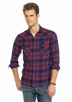 Red Camel Long Sleeve Flannel Western Shirt