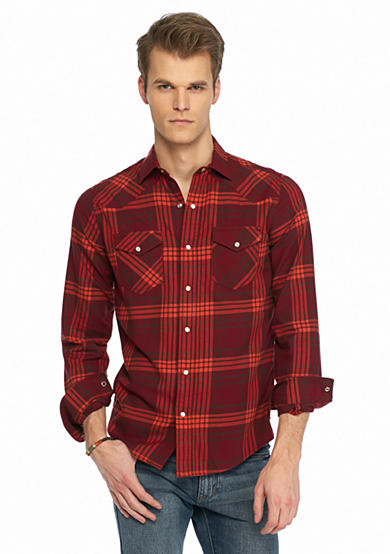 Red Camel® Long Sleeve Flannel Western Shirt