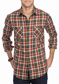 Red Camel Long Sleeve Flannel Woven Shirt