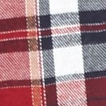 Young Men: Check & Plaid Sale: Burgundy White Red Camel Long Sleeve Flannel Shirt