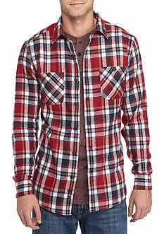Red Camel Long Sleeve Flannel Shirt