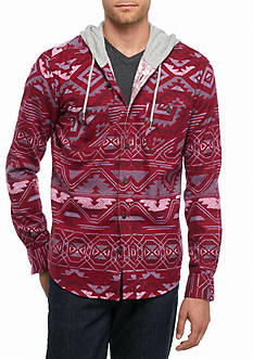 Red Camel Santafe Hooded Flannel Shirt