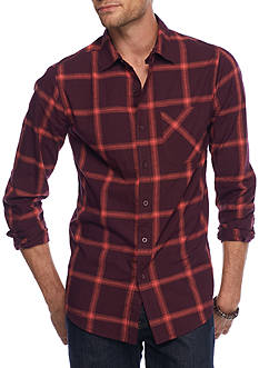 Red Camel Long Sleeve Single Pocket Woven Shirt