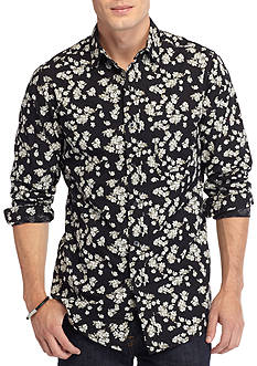 Red Camel Long Sleeve Single Pocket Floral Shirt