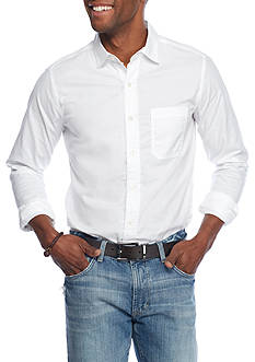 Red Camel Long Sleeve Single Pocket Oxford Shirt