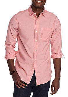 Red Camel Long Sleeve Single Pocket Oxford Shirt