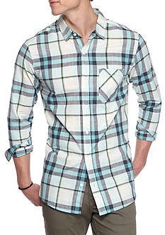 Red Camel Long Sleeve Aqua Plaid Shirt