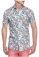 Red Camel® Short Sleeve Hibiscus Woven Shirt