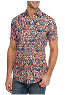 Red Camel® Short Sleeve Parrot Party Woven