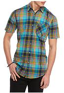 Red Camel® Short Sleeve Plaid Woven Button