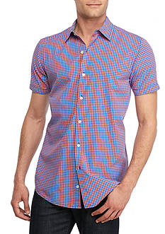 Red Camel Short Sleeve Gingham Shirt