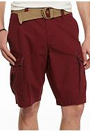 Red Camel® Solid Ripstop Belted Cargo Shorts